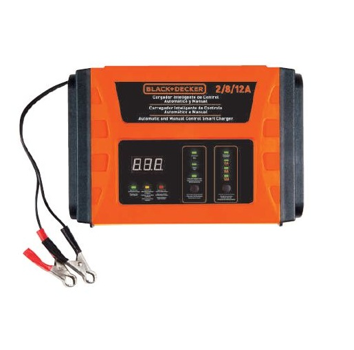 Black + Decker - BC12-B2 Automatic and Manual Control Smart Charger