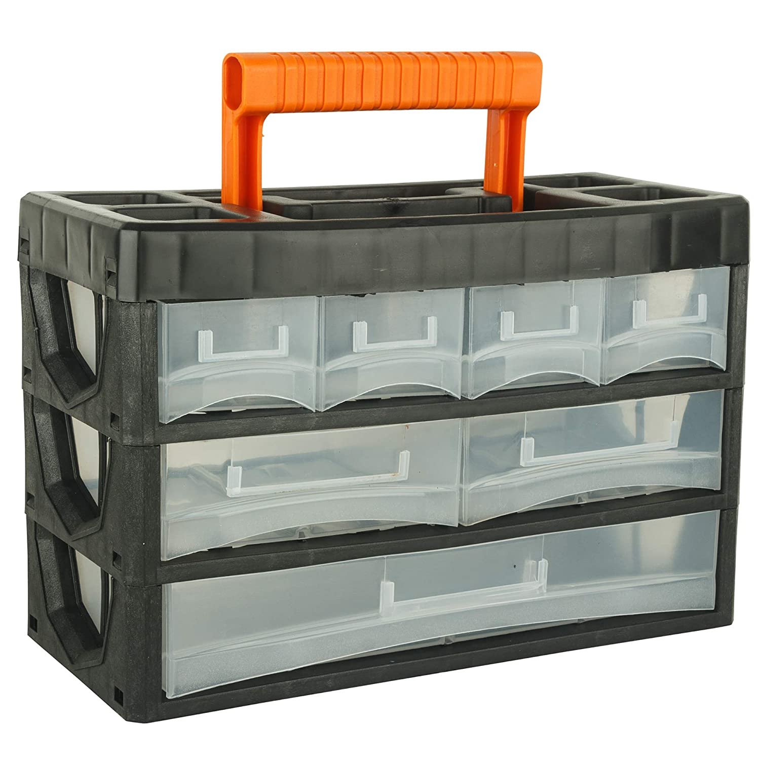BLACK+DECKER BDST73829-8 Small Portable Cabinet for Multi-Purpose Home/Tool Storage with Carry Handle (7 Drawers)