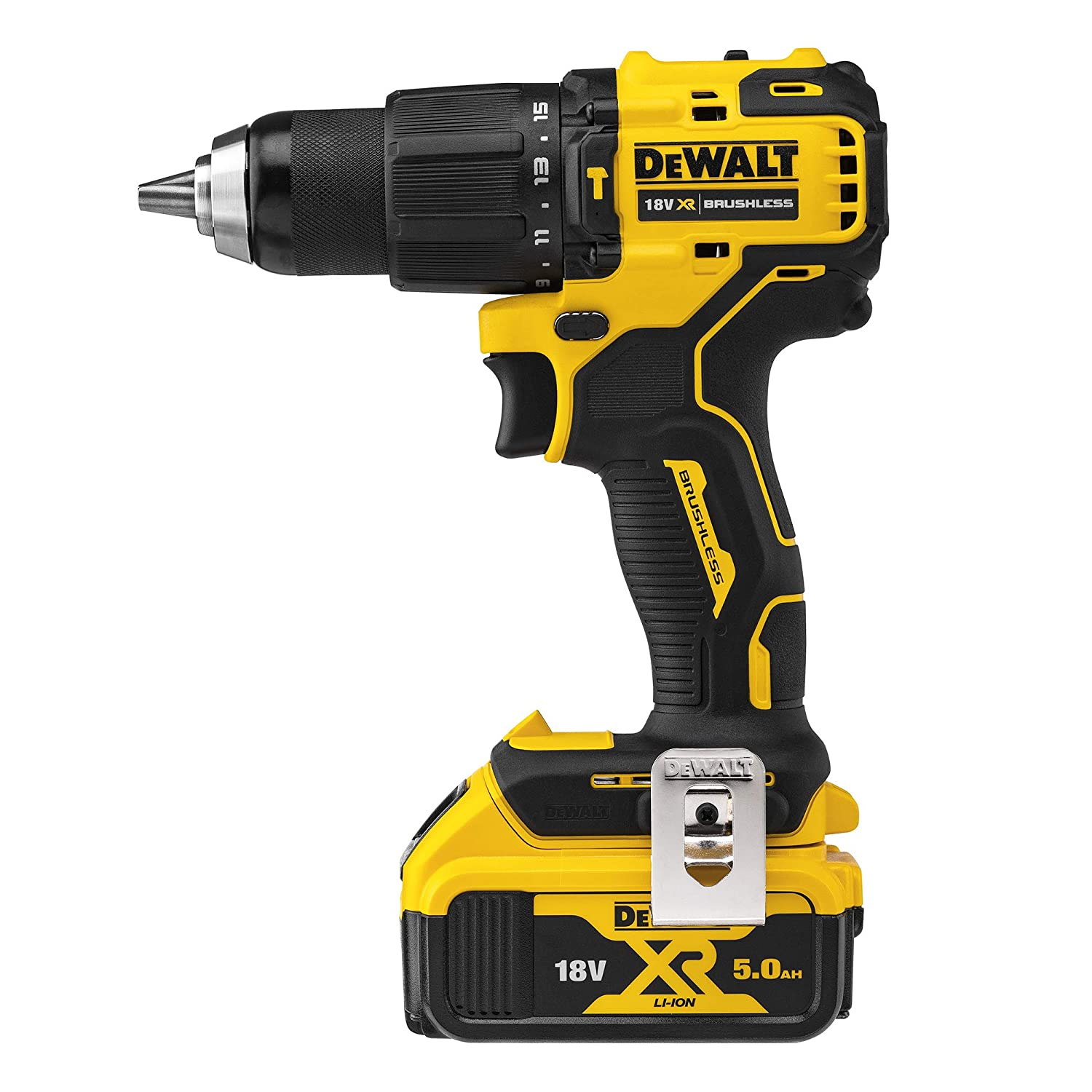 18V Brushless Compact Hammer Drill Driver 1.5Ah Battery