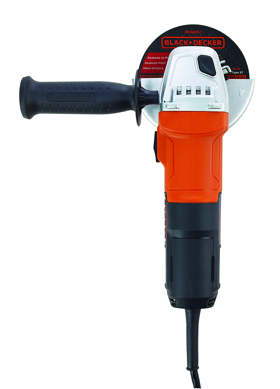 BLACK+DECKER G650 650W Small Angle Grinder (Red & Black) (G650-IN)