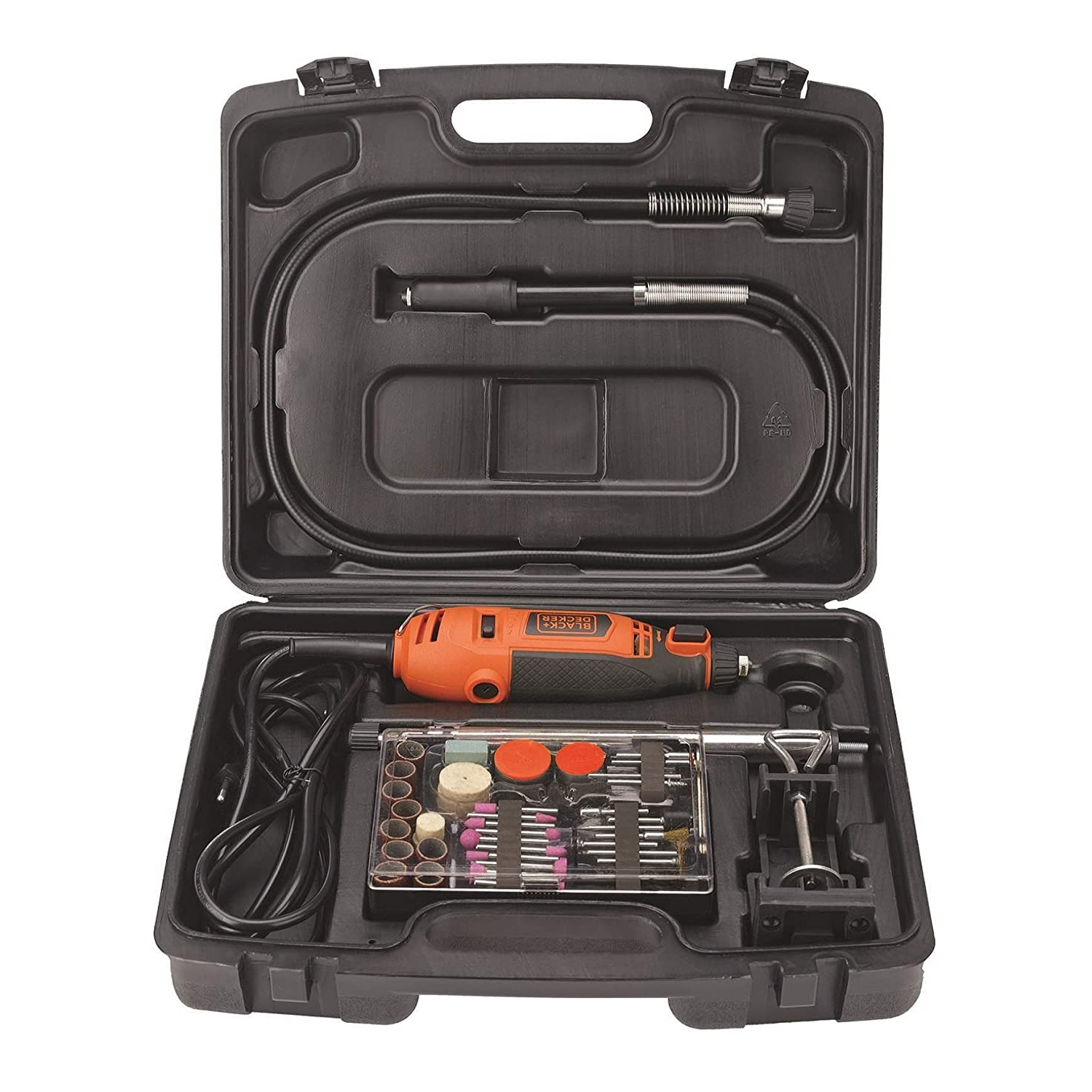 BLACK+DECKER RT18KA-IN 180W Electric Rotary Tool with 118 pc Acc. Kit Box for Grinding,Polishing,Engraving and Carving, RT18KA